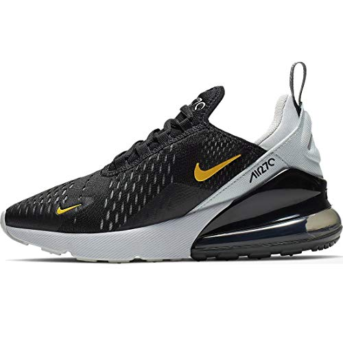 Nike Air Max 270 (gs) Big Kids 943345-016, Negro (Black/Amarillo-pure Platinum-anthracite), 38 EU