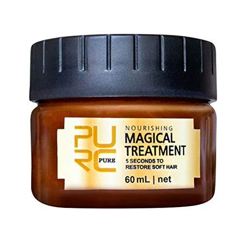 Magic Mask Keratin-Haarbehandlung 5 Sekunden Reparatur von Haarwurzelschäden, Keratin-Haarpflege, weiches Haar für alle Hauttypen. Nutrition Hair Mask Deep Conditioner 60ML