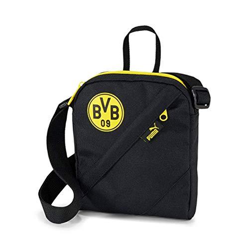 PUMA Borussia Dortmund BVB Unisex Tasche - Umhängetasche, Logo, 21x15x5cm (HxBxT) Schwarz