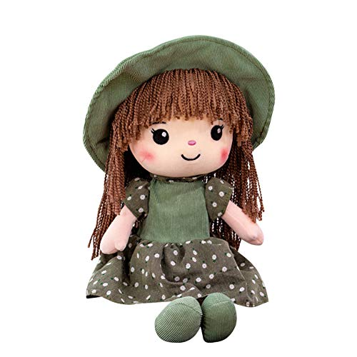 Muñeca de trapo de 40 cm, muñeco de peluche suave y esponjoso con falda de sombrero,muñeco de trapo suave, muñeco de princesa para niñas,muñeco de compañía, compañero para dormir, regalo de cumpleaños