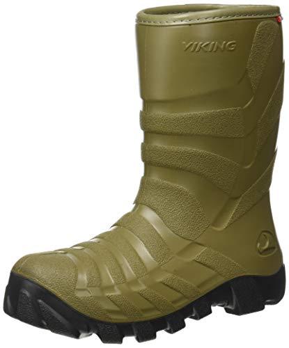 viking Unisex-Kinder Ultra 2.0 Schneestiefel, Khaki/Antracit, 33 3er-Box