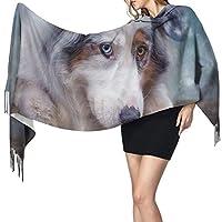 犬 雪 冬 大判スカーフ レディースマフラー レディースストール 暖かいスカーフ 防寒防風 厚手 柔らかい秋冬用