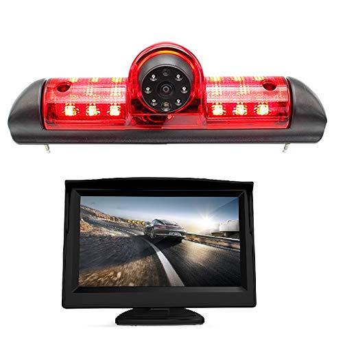 HD-Rückfahrkamera für Citroen JUMPER III/Fiat DUCATO X250/Citroen Relay Peugeot BOXER III, 3. Bremslicht-Rückfahrkamera-Set, mit 12,7 cm LCD-Monitor, wasserdicht, Nachtsicht, Rückfahrkamera