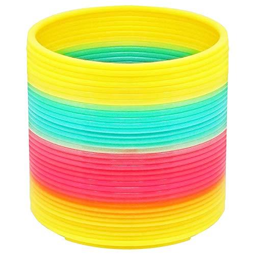 1 Resorte De Arco-iris - Rainbow Spiral Primavera Del Espiral Gigante De Juguete Decoración Mágica Slinky Espirales Conjunto Resortes En Neón - Regalo Para Cumpleaños Fiesta Juego Para Niños
