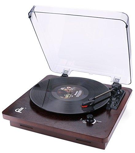 Platenspeler met DL Vinyl platenspeler Platenspeler met 3 snelheden Vinyl met stofkap Transparant PC-opname Vinyl naar MP3, RCA-uitgang, Aux In