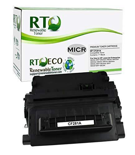 Renewable Toner Compatible MICR Toner Cartridge Replacement for HP 81A CF281A Laserjet Enterprise M604 M605 M606 MFP M630