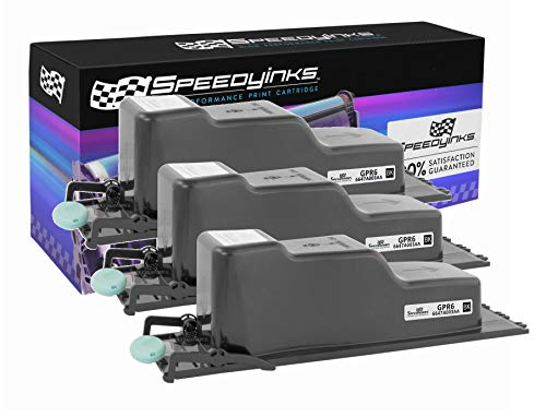 SpeedyInks Compatible Toner Cartridge Repalcemant for Canon GPR6 6647A003AA | 15,000 Pages (Black, 3-Pack)