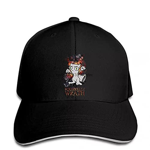 OEWFM Gorra de béisbol Animal Lindo para Hombre Clásico Squirrelly Wrath Foamy Squirrel Impreso Buena Marca Young Snapback Hat Peak Regalo de Gorra de Deportes al Aire Libre