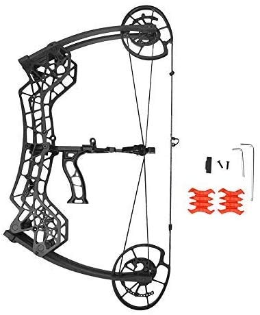 AMEYXGS Archery Compound Bows Kit Dual-Purpose 30-60lbs Adjustable Catapult Steel Ball Compound Bows for Outdoor Bow Hunting Fishing