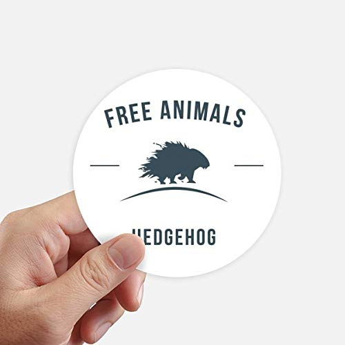 DIYthinker Cartoon Hedgehog Animal Bleu Silhouette Autocollants 10CM Mur Valise pour Ordinateur Portable Motobike Decal 8Pcs diamètre 10cm Multicolor