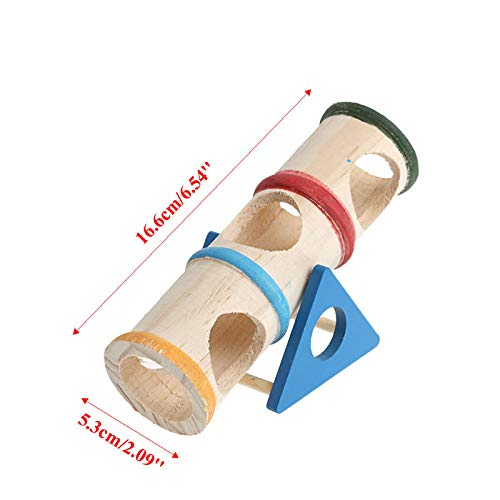 IW.HLMF Casa de Jaula Columpio de Madera Colorido Hide Play Juguetes de Mascotas para hámster Juguete Cilindro de inclinación Rat Rat Mouse