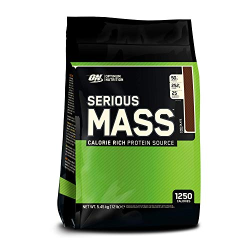 Optimum Nutrition ON Serious Mass Hochkalorisches Weight Gainer Protein Pulver, Whey Protein,...