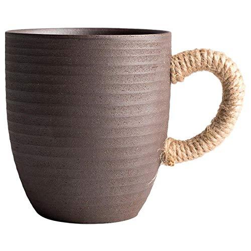 Timagebreze Taza de Té de CeráMica de China Tazas de CeráMica Blanca con Asa Tazas de Vino Tazas de Café Desayuno Taza de Té para Regalo