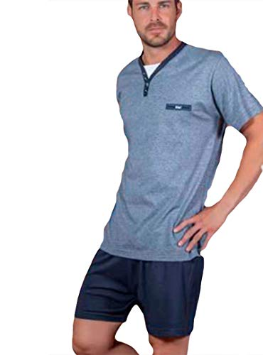 KLER - Pijama Clasico Hombre Corto Verano Hombre Color: