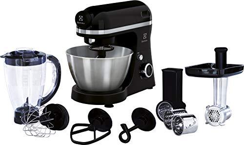 Electrolux EKM3700 800W 4L Negro - Robot de cocina (4 L, Negro, Giratorio, 1,2 m, Metal, Acero inoxidable)