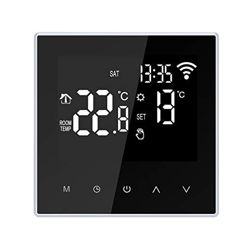 Galapara Thermostat Fußbodenheizung, WiFi Smart Thermostat Digitaler Temperaturregler App Steuerung Wöchentliche Zirkulation Programmierbare Elektrische Fußbodenheizung Mit Großem LCD Bildschirm