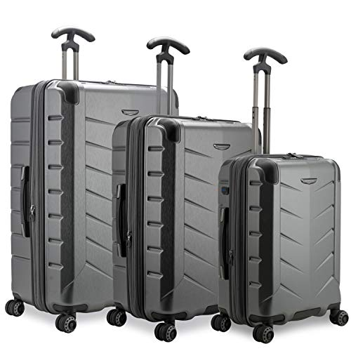 Traveler's Choice Silverwood II Hardside Expandable Spinner Luggage, Gray - Out of Stock, 3-Piece Set