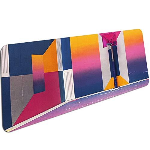 Impresión de Marco de Baloncesto Alfombrilla de Ratón Grande Pc Alfombrilla de Ordenador Tamaño para 30X90X0,3Cm Alfombrillas de Ratón para Juegos 600X300X3Mm