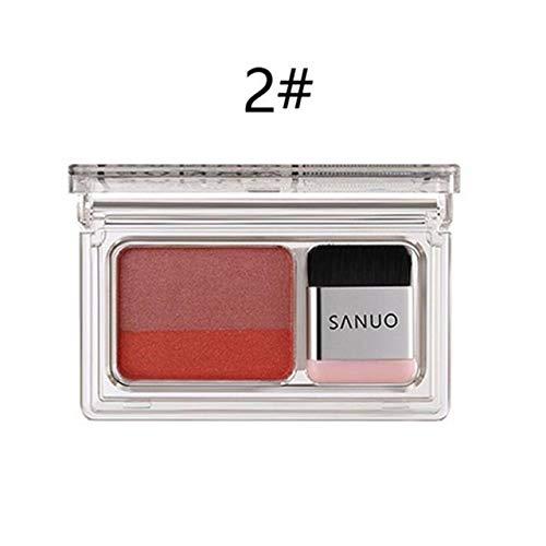 JSZWGC Lazy New Upgraded Double Fard à paupières dégradé Shimmer Palette de Fard à paupières Maquillage Lasting Femme imperméable Naturel (Color : 02)