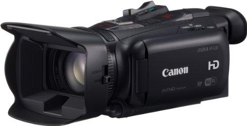 Canon Legria HF G30 HD Camcorder (20-Fach Opt. Zoom, 400-fach dig. Zoom, 8-Lamellen-Irisblende, 8,9cm (3,5 Zoll) OLED-Touchscreen, WLAN, DIGIC DV 4)
