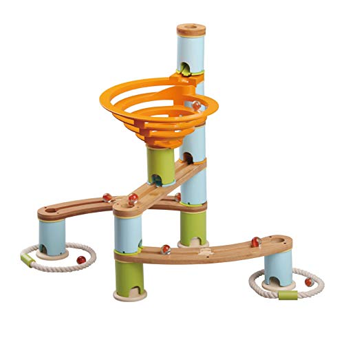 Fat Brain Toys 78 pc Bamboo Builder Marble Run
