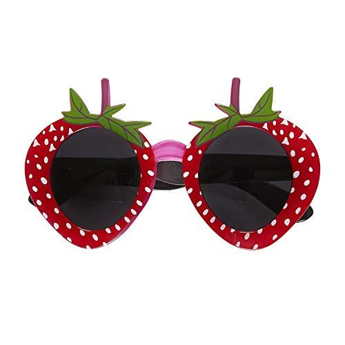 Widmann 1393 - Brille Erdbeere, Accessoire, für Karneval oder Mottopartys