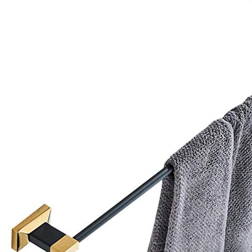 LCZMQRCLMZRQ Badkamer hardware hanger wandmontage glazen plank zeepmand massief messing rij haak badkamer accessoires set, enkele houder