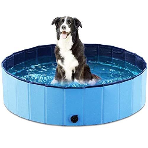 HEITIGN Faltbarer Hundepool, Multifunktionaler Hundepaddelpool PVC-Badewanne Faltbarer Pool Wasserteiche Privater Pool für Haustiere Kinder, 80 * 20 cm, Blau
