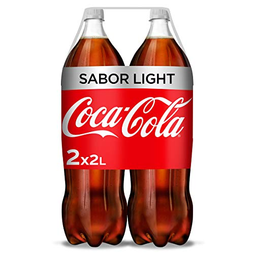 Coca-Cola Light - Refresco de cola sin azúcar, sin calorías - Pack 2 botellas 2L