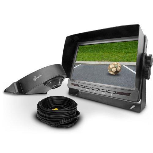 Carmedien Transporter Video Rückfahrsystem cm-TRFS2 Rückfahrvideosystem mit 120° Rückfahrkamera und IR Dioden für Nachtsicht