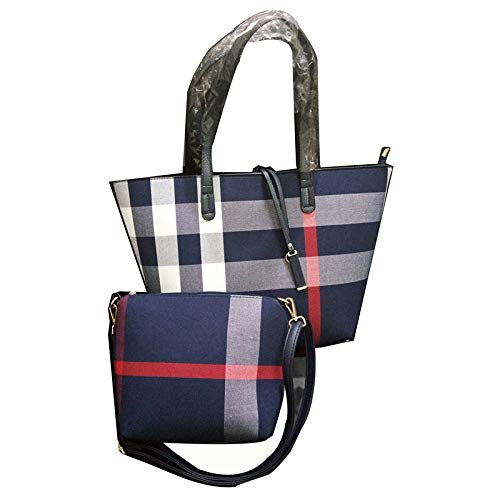 New Bag Europäische und amerikanische minimalistische Schultertasche Plaid Einkaufstasche Damen Handtasche PIP
