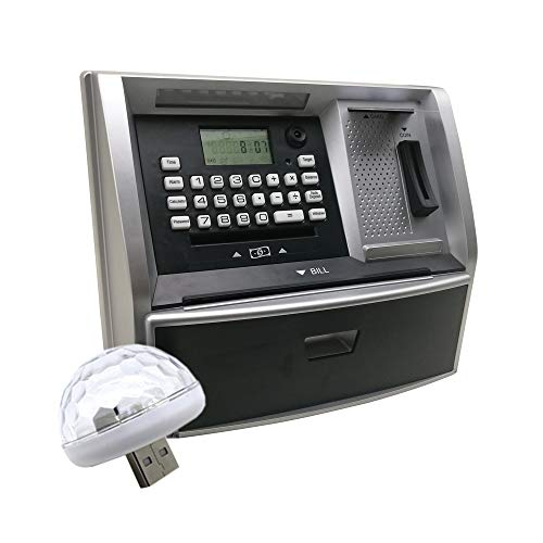 Toy Talking ATM Bank ATM Machine Savings Piggy Bank for Kids with Extended USB Ports for Accessories (Lamp Hot)