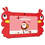 Xgody Kids Tablet 7 Zoll, 2GB + 16GB Android 9.0 GMS Tablet 7 inch, Quad Core, WiFi Bluetooth Dual Camera, Kidoz & Google Play Pre-Installed with Rot Case