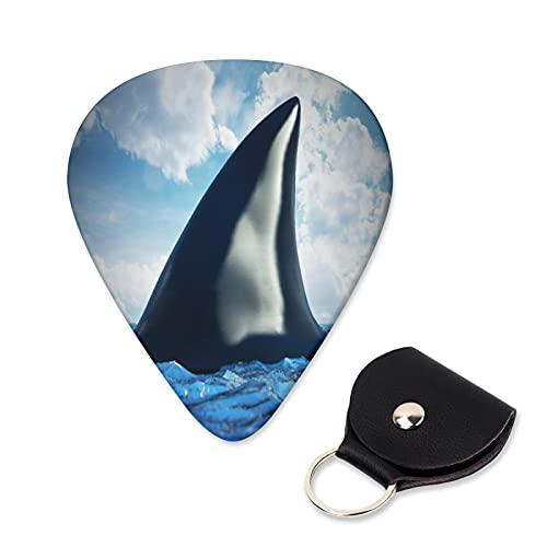 EILANNA Guitar Picks Shark fin on the water Trendy Guitar Plectrums for Your Electric,Acoustic,Ukulele,or Bass Guitar,Guitar Pick Grip 6pcs,3 Thickness(0.46,0.71,0.96mm)