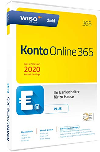 WISO Konto Online Plus 365 (aktuelle Version 2020) (WISO Software) | Disc in Standardverpackung