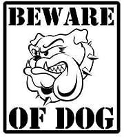 DOGの警告サインビニールデカールカーステッカーブラック/ Silver11.6CM * 13CM2pcs、ホワイト-11.6CM * 13CMの用心 Rebirtha (Color : Black, Size : 11.6CM*13CM)