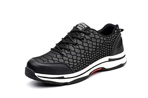 Unisex Hombre Mujer Zapatillas de Seguridad con Punta de Acero Protección Zapatos de...