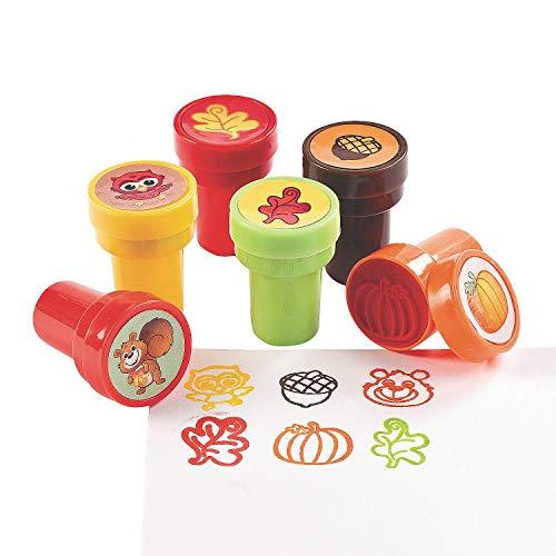 Fall Stamper Assortment - Bulk set of 24 Pieces - Crafts for Kids