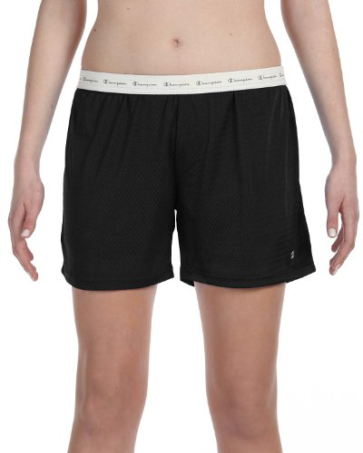 Champion Damen Netz-Shorts. - Schwarz - X-Groß