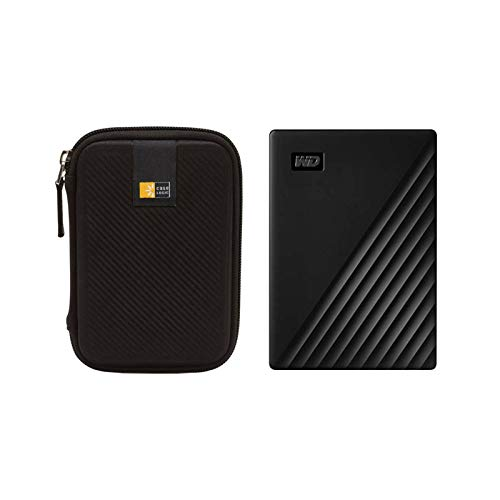 WD 2TB My Passport USB 3.2 Gen 1 External Hard Drive (2019, Black) + Case