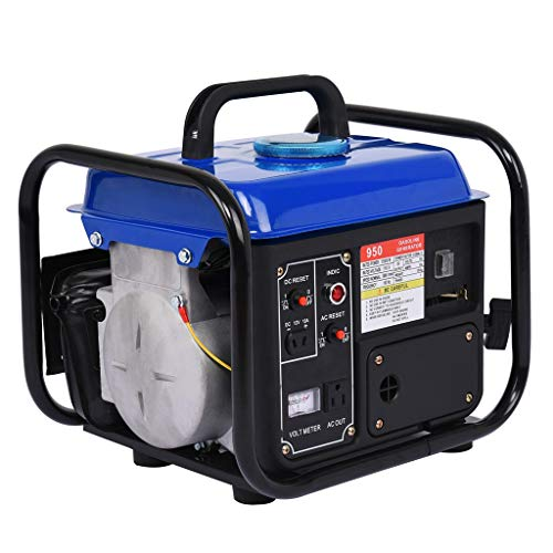 1200W Gas Generator,Fuel Efficient 2-Stroke,Portable Power Station Gasoline Running Amps 120V for Emergency Supplies Camping Standby,Home Backup, Job-site, Recreation Gifts (B)