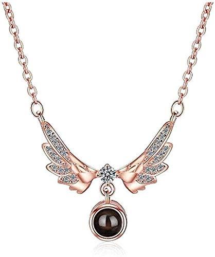 Collar para mujer, collar para hombre, colgante, 2021, elegante, elegante, con alas de ángel, fascinante, colgante, collar para mujer, joyería, regalo, colgante, collar, regalo para niñas, niños