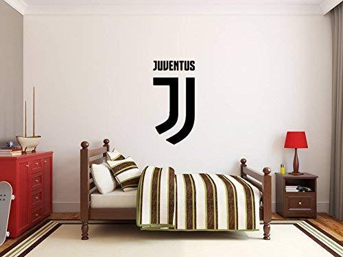 XXL Juventus FC Adesivo da parete Art Deco Decorazione della stanza Ragazzi Squadra di calcio Logo Sign Adesivo auto gratuito Cresta Calcio Etichetta Distintivo Serie A