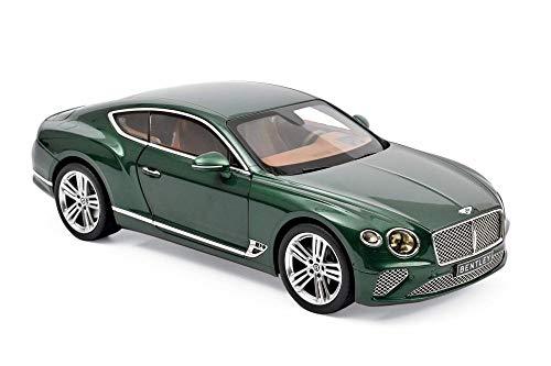 Norev 2018 Bentley Continental GT Hardtop, Metallic Green 182782 - 1/18 Scale Diecast Model Toy Car