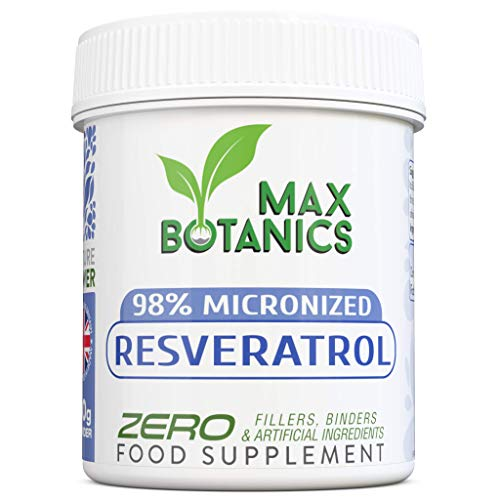98% Micronized Resveratrol Powder - Premium & Pure Trans-Resveratrol - High Absorption Rate - Water Soluble - 3rd Party Tested - Vegan (30g Powder - Bottle)