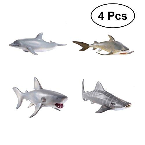 TOYMYTOY Sea Animal Shark Spielzeug Delphin Spielzeug für Kinder Kleinkinder, 4tlg