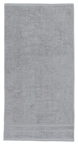 Toalla lisa de bidet 100% Algodón rizo, Densidad 500 gr/m2, Color Gris, 30x50 cm OPORTUNIDAD