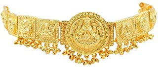 Fashion205 Fashionatelier Gold Finish Lakshmi Waist Jewellery (Kamarband) For Women