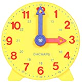DHCHAPU Student Learning Clock Time Teacher Gear Clock 4 Inch 12/24 Hour