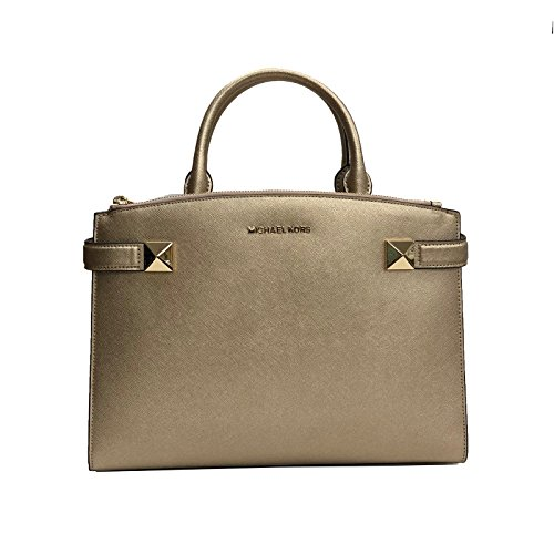 """Made of Saffiano leather Removable and adjustable crossbody strap, wear 3 ways, crossbody, over the shoulder or carry in the crook of the arm Interior:3 compartments, 1 zip pocket and 4 slip pockets in the middle compartment Top snap closure 13""""L x 9..."""